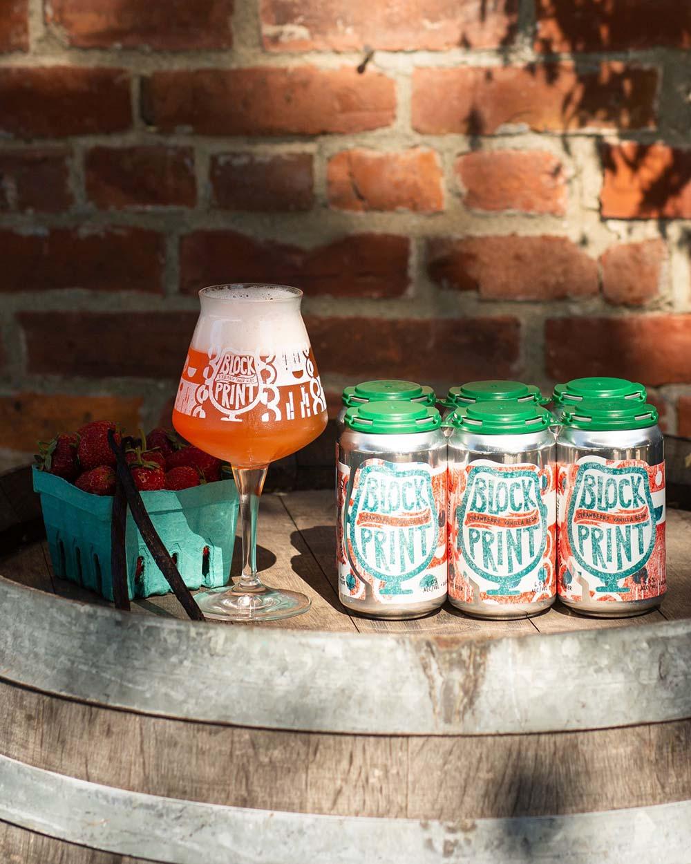 Foam Brewers, Blockprint: Strawberry + Vanilla Bean
