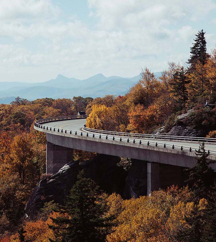 Linn Cove Viaduct, the Blue Ridge Parkway, Photo by Wes Hicks
