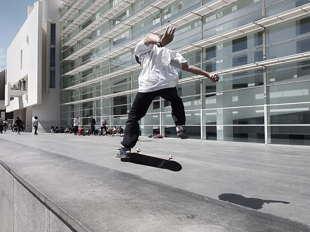 Skater at the MACBA by Frans Ruiter