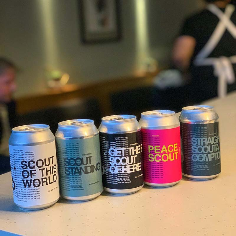Scout London's own craft beer range, created in collaboration with The Inkspot Brewery